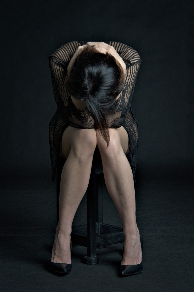 Frau mit Wechseljahresbeschwerden